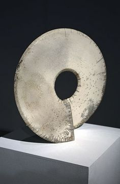 Ceramics by Michael Rice at Studiopottery.co.uk - Raku White Coriolis 48cm High