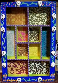 Dia de los Muertos Nicho (love the shelves and compartments)