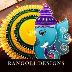 Check out latest ganesh rangoli designs and patterns which you can use to decorate your home this ganesh chaturthi. Easy Rangoli Designs Diwali, Rangoli Simple, Indian Rangoli Designs, Simple Rangoli Designs Images, Rangoli Designs Latest, Rangoli Designs Flower, Free Hand Rangoli Design, Rangoli Border Designs, Small Rangoli Design
