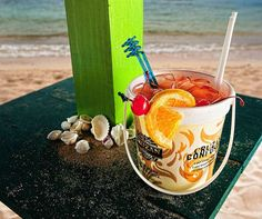 Voodoo Juice is a cocktail from Iggies Beach Bar at Bolongo Bay Beach Resort, St. Thomas, US Virgin Islands.