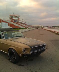 evening at the track with my 68 mustang, calgary, alberta, 2011 • via endless me