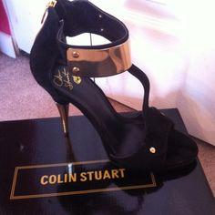 "Spotted while shopping on Poshmark: ""Amazing Colin Stuart black and gold stilettos!""! #poshmark #fashion #shopping #style #Colin stuart #Shoes"