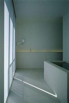 Very pretty color!  Bathroom inside House HV by Belgian architect Hans Verstuyft.