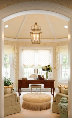 This is one of the most beautiful home offices out there. With a classic, yet delicate touch, this is the perfect home office for anyone who wishes to feel relaxed. In the TECH room.