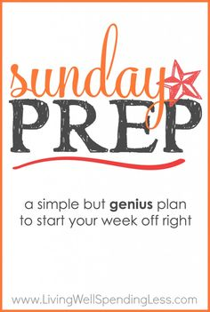 Need to get your week better #organized? Why not try this #frugal #mom's #Sunday #prep plan? This detailed plan will help you cover all your week's prep needs for #laundry, #kids' #school papers, #meals, and more! Not only will this system help you #savemoney, but you'll also save yourself the #stress of doing everything at the last minute. #moneysavingtips #metime #parenting