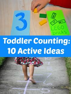 My toddler loves numbers these days. He is thrilled when he identifies a number (whether or not he names the correct number!)  Here are 10 active ideas to get your toddler counting: Run, jump, and walk on a number line Let them create their own number line using big letters Dump …