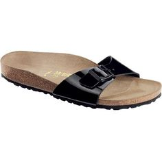 Slide your feet into the Birkenstock Women's Madrid Birko-Flor Narrow Sandals and give them the luxury of total comfort. The ergonomic soles cradle your feet so you can kick it all day long without keeling over.