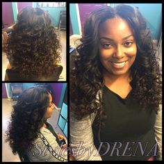 Sew In w Middle Part