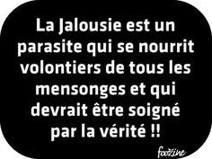 La Jalousie est un parasite . French Words, French Quotes, Unity Quotes, Best Quotes, Love Quotes, French Language, Some Words, Positive Attitude, Positivity
