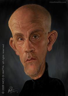 Caricatura de John Malkovich.