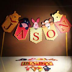 Papier Luxe - Winnie the Pooh Banner - Baby Shower