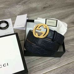 1f607d943279fa 411924 1000 Belt Materiall: black cowhide Use hot stamping technology have  Gucci Signature Buckle Material: Palladium metal Interlocking double G  buttons ...