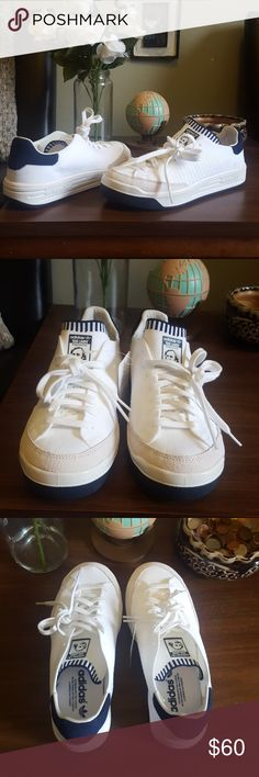 Adidas Rod Laver Sneakers Brand new with tags. I purchased these from another posher and she claimed that they were a women's size 7 but they're actually a men's size 7 which makes these a women's size 9 so extremely too big but very cute. Love them just way to big. adidas Shoes Sneakers