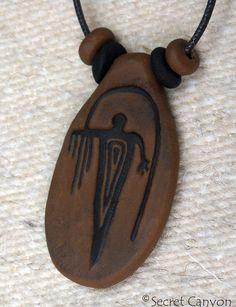 Primitive Indian Rain Shaman Pendant Anasazi Hopi by SecretCanyon, $9.95