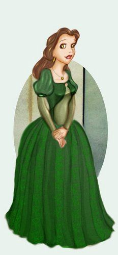 Princess Belle Green Dress