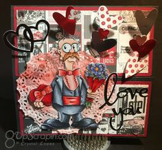Valentine easel card Doctor Digi's House of Stamps , the image is called Valentine Derek Easel Cards, Lent, Digital Stamps, Projects To Try, Invitations, Handmade, House, Image, Digi Stamps