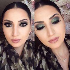 Mariana @marianabear All drugstore - Green Makeup