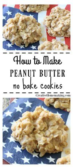 Peanut Butter No Bake, Peanut Butter Cookie Recipe, Peanut Butter Recipes, Oats Recipes, Cooking Recipes, Recipies, Fun Easy Recipes, Easy Cookie Recipes, Dessert Recipes