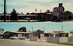Caldwell Idaho ID 1960s Roadside View Frontier Motel Antique Vintage Postcard