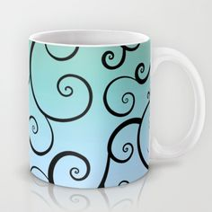 Buy Swirling Blue by Groovyfinds as a high quality Mug. Worldwide shipping available at Society6.com. Just one of millions of products available.