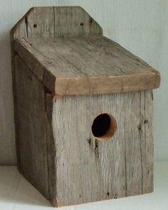 primitive bird houes | Bird Houses / BLUE BIRD BIRDHOUSE -HAND MADE PRIMITIVE Antique BARN ...