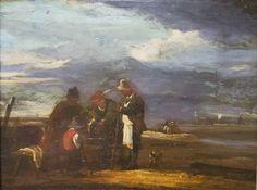 "https://flic.kr/p/JsSzmY   Isaac Van Ostade (Dutch, 1621-1649), Fisherman on the Dutch Coast, n.d.   Oil on wood panel, 17.375 x 12.75 x 17.375"".  Collection of Tweed Museum of Art, UMD.  Gift of Mr. Howard Lyon.  D57.x23."