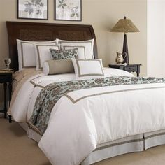 classic creams and brown toile bedding #bedding #decor #bedroom