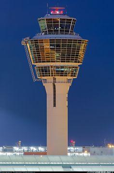 Airport Control Tower, Franz Josef Strauss, Aviation World, Aircraft Pictures, Atc, Munich, Towers, Airplanes, Restaurant