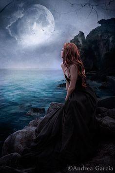 moon in dark fantasy Gothic Fantasy Art, Fantasy Kunst, Dark Gothic Art, Fantasy Photography, Beautiful Moon, Anime Angel, Moon Art, Fairy Art, Fantasy World