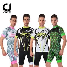 29.98$  Buy here - http://aliu2w.shopchina.info/go.php?t=32805327851 - Cheji Mens MTB Clothing Short Summer Fluorescent Cycling Sets For Man Riding Race Bike Sportswear Jersey and Shorts Pad Pockets   #SHOPPING