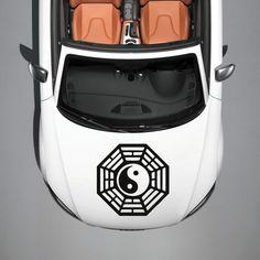 Taoism Symbol Sign Yin and Yang HOOD CAR VINYL STICKER DECALS GRAPHICS SV3656