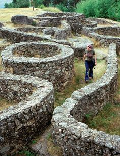 """Celt village """"Castros"""" in Galicia, NW Spain - Ponteareas, el corazón gallego Visit Portugal, Spain And Portugal, Land Art, Magic Places, Spanish Towns, Places To See, Places To Travel, House On The Rock, Basque Country"""