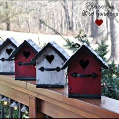 "Introducing ""The Love Shack"" ❤️ Valentine's Day Birdhouse! #birdhouses"