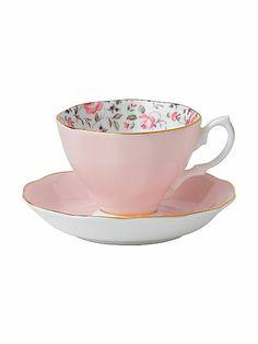 Rose Confetti Vintage tea cup and saucer set £22