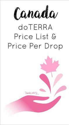doterra canada price per drop price list