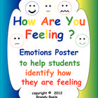 FREE! This is a poster that helps students identify how they are feeling.  You can use this poster with the entire class to discuss feelings or individua...