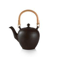 Royal Copenhagen Black Fluted Teapot 0,75 L