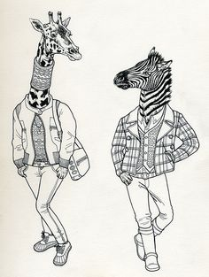 This thing is they are always just so style'n (Anthropomorphic Animals - that is . . .)