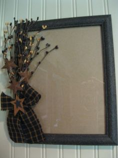 Primitive Picture Frame https://www.facebook.com/pages/Primitive-Country-Treasures/100991083354848