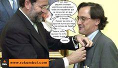 """""""Dios los cría y ellos se juntan...."""" #Marhuenda #Rajoy #incompetente #farsa #condecoracion #medalla #corrupcion #corrupto #España"""