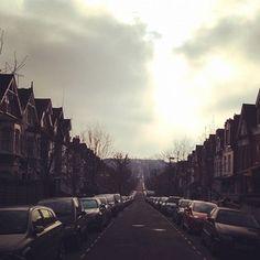 #London #CrouchEnd #sky #street #urban #landscape