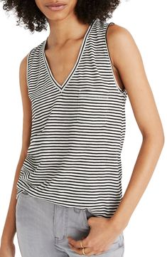 Find Madewell Whisper Cotton V-Neck Pocket Tank (Regular & Plus Size) online. Shop the latest collection of Madewell Whisper Cotton V-Neck Pocket Tank (Regular & Plus Size) from the popular stores - all in one Tuxedo Coat, Tie Waist Top, Cropped Cardigan, Striped Tank, Maternity Tops, Plus Size Blouses, Long Sweaters, Boyfriend Jeans, Plus Size Fashion