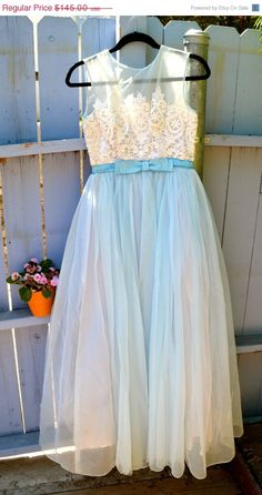 20 OFF SUMMER SALE 1950s Delicate Blue and by LetThemEatCakeLA, $116.00