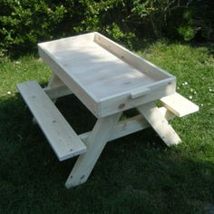 Picnic table with sand tray