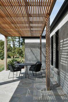 12 Pergola Patio Ideas that are perfect for garden lovers! Timber Pergola, Outdoor Pergola, Diy Pergola, Outdoor Spaces, Outdoor Living, Outdoor Decor, Small Garden Arbour, Cabana, Backyard Landscaping