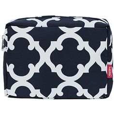 N. Gil Large Travel Cosmetic Pouch Bag 2 (Geo Navy Blue). For product & price info go to:  https://beautyworld.today/products/n-gil-large-travel-cosmetic-pouch-bag-2-geo-navy-blue/