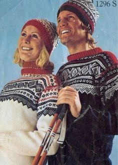 Marius sweaters for skiing. Nice old picture from a knitting pattern. E Design, Pattern Design, Norwegian Style, Norwegian Knitting, Nordic Sweater, Knitting Patterns, Sweater Patterns, Knitting Ideas, Vintage Ski