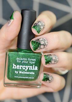 Spring Nail Art (Cherish, Hercynia, stamping Moyou The Pro 08)