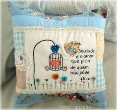 Abrindo a semana! Sewing Machine Embroidery, Embroidery Art, Patch Quilt, Sewing For Beginners Tutorials, Quilted Gifts, Crazy Patchwork, Sewing Projects For Kids, Sewing Accessories, Pin Cushions