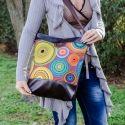 Meska - Textilbőr női táska,mandala mintával. nyitraiadi kézművestől